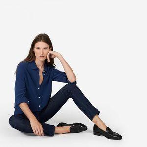 ✨NWT✨ Everlane Relaxed Silk Shirt, Blue